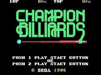 Champion Billiards